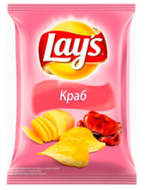 """Lays"" Чипсы Краб 40гр*28шт"