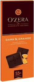Шоколад OZera Dark & Orange 55%  90гр*18шт